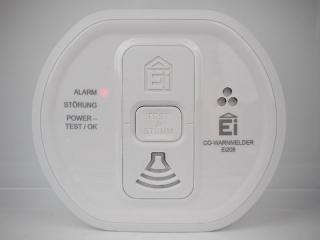 Ei208 - aktivierter Alarm (rote LED)